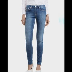 Acne Studios Skin 5 used blue mid rise jeans